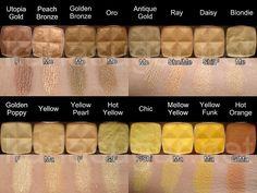 Utopia gold!!!!! left top corner ,,,, yellow nix eyeshadows  love the bright yellow