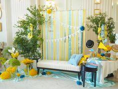 blue yellow 水色 黄色