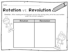 FREEBIE} Earth's Revolution and Rotation Practice Sheet | The ...