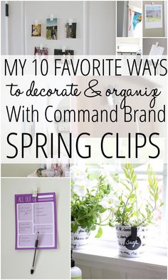 I love Command Brand, plus these spring clips are really cool. Check out these 10 ways to decorate using the spring clips. #decor #home #command #springclips