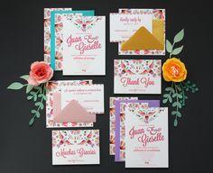 Bi-Lingual Invitation Suite Wedding Stationery Inspiration, Wedding Stationary, Mexican Wedding Invitations, Invitation Suite, Unique Jewelry, Frame, Handmade Gifts, Etsy, Invitations