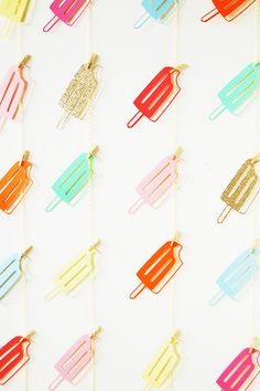 30 Awesome DIY Projects — For EVERY Level   #refinery29  http://www.refinery29.com/diy-home-projects#slide28  Popsicle Backdrop by You Are My Fave  Speaking of auspicious occasions, any photo opportunity will be improved with this sweet popsicle backdrop.