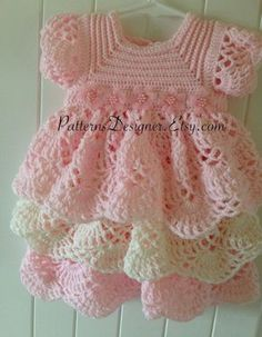 Crochet Baby Dress Hey, I found this really awesome Etsy listing at www.etsy.co...