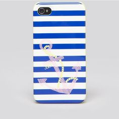 Juicy Couture Iphone 4 Case - Sailor Girl Anchor ($28) ❤ liked on Polyvore