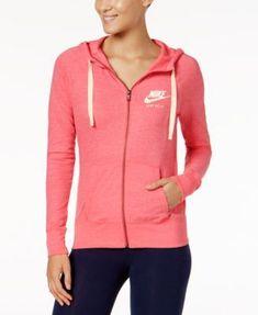 Nike Gym Vintage Full-Zip Hoodie - Pink XS d05de6a6b7