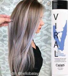 """Repost from @hellobalayage owner of Simplicity Salon """"Today I tried the Viral® @celebluxury Pastel Lavender Colorwash®... Obsessed  2 washes at 2 minutes each I was able to create this fun color from a blonde balayage level 10! Wonderful product I'm in love ❤"""" Thanks for sharing your Viral® Colorwash® results with us Mallery   ▪️ Before using Colorwash® please visit our website ➡️ www.celebluxury.com ⬅️ for the most frequently asked questions and the most in depth education on all of our pro"""