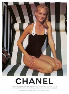 Chanel from 1996, with model Amber Valletta: