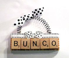 Bunco Scrabble Tile Ornament by ScrabbleTileOrnament on Etsy, $8.00