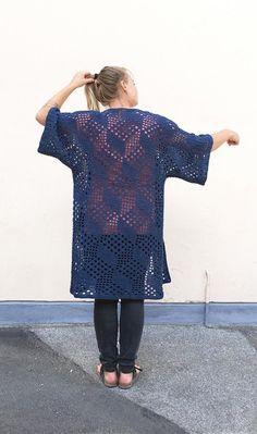 Boks kimono Crochet pattern by Sidsel Sangild