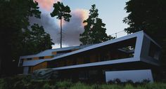A House In The Forest, Nicula Mihai on ArtStation at https://www.artstation.com/artwork/ry25E
