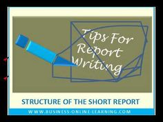 Tips For Report Writing Report Writing, Business Video, Train, Learning, Videos, Tips, Studying, Teaching, Strollers