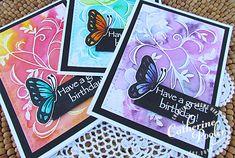 watercolored butterflies