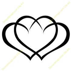Intertwined Hearts Clip Art Free