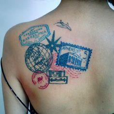 Passport stamp tattoo #wanderlust