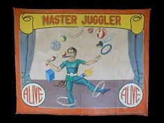 Master juggler sideshow banner by Fred G. Johnson