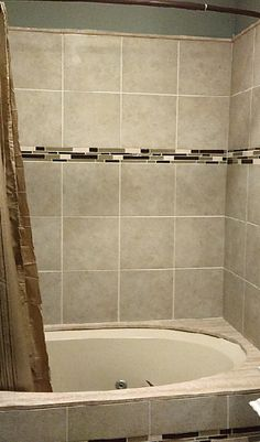 open shower custom tile