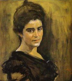 Valentin Serov >> Portrait of Sophia Dragomirova-Lukomskaya