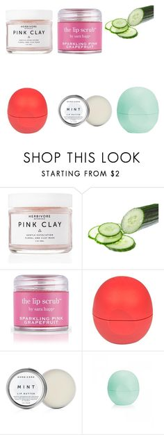 """Spa day at home part 2"" by ampmahue on Polyvore featuring beauty, Herbivore Botanicals, Sara Happ, River Island and Eos"