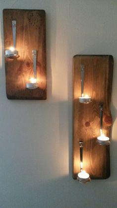 Spoon tea light candle holders wall lights sconce grumpys spoon tea light candle holders wall lights sconce aloadofball Choice Image