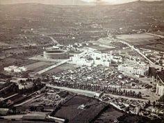 Vista aérea de Los Cármenes a principios de los cuarenta