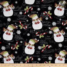 Travel Pillow Case / Standard Pillow Case / Hooray for Snow /  Snowmen /  Christmas by Blessedbyarose on Etsy
