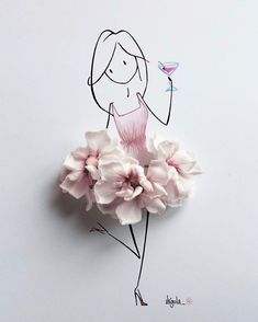 Discover ideas about flower petals Flower Petals, Flower Art, Flowers, Art Floral, Illustration Art, Illustrations, Creative Artwork, Little Doll, Flower Fashion