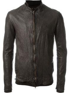 salvatore santoro zipped fitted jacket