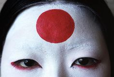 rumikokoyanagi:  Thomas Hoepker JAPAN. Tokyo. The sun of the Japanese flag painted on a girl's forehead. 1977.