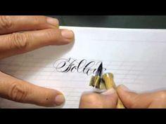English cursive corsivo inglese - YouTube