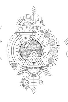 Art Drawings Sketches, Tattoo Sketches, Body Art Tattoos, Sleeve Tattoos, Planet Sketch, Hamsa, Solar System Tattoo, Planet Tattoos, Solar System Planets