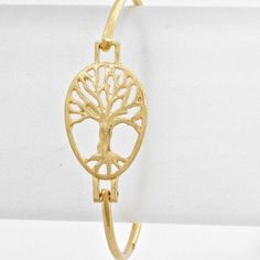 Tree of Life Bracelet Matte Gold Tree of Life Bracelet. Jewelry Bracelets