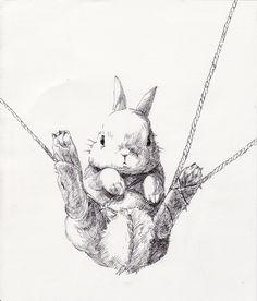 「縛られうさぎ」 illustration by USAKURA