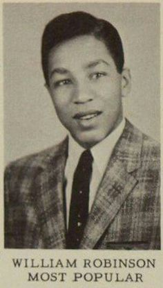 Happy birthday Smokey Robinson born February View the American RB singer-songwriter in the 1957 Northern High School yearbook! Singer Songwriter, Smokey Robinson, Old School Music, Young Celebrities, Celebs, Soul Singers, High School Yearbook, Black History Facts, Cultural