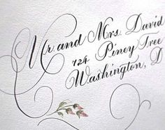 Calligraphy wedding envelope addressing by DamnGoodCalligraphy