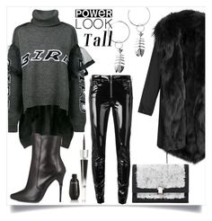"""""""Power Look Tall"""" by skad183 ❤ liked on Polyvore featuring Preen, Balmain, Alyx, Lancôme, Barbed and Proenza Schouler"""