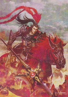 Dynasty Warriors: Lu Bu  Jake: that Weapon (along with the demon horse) Is kind of the look we are going with.