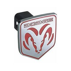 DODGE RAM HITCH COVER CR-311 Bully Truck - Red Triple Chrome Plated