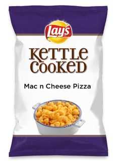 Wouldn't Mac n Cheese Pizza be yummy as a chip? Lay's Do Us A Flavor is back, and the search is on for the yummiest flavor idea. Create a flavor, choose a chip and you could win $1 million! https://www.dousaflavor.com See Rules.