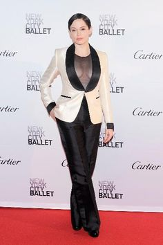 Rose McGowan at the New York City Ballet 2015 Fall Fashion Gala