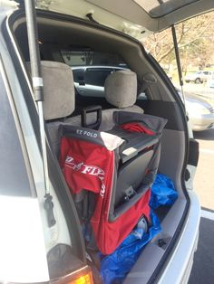 Radio Flyer Ultimate EZ Fold Stroller folded in back of van