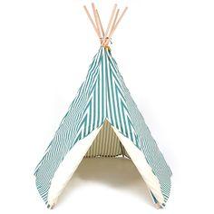 Nobodinoz Zelt Spielzelt Tipi Streifen Grün