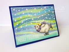 Totally love this MFT Polar Bear with the adorable sky background!!