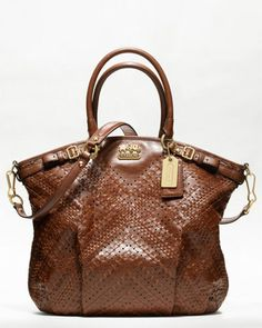 Coach 'Madison' Leather Lindsey Satchel - wow that's gorgeous.....