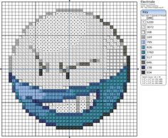 Birdie Stitching Pokemon Pattern - 101 Electrode (do in same colours as voltorb for non shiny)