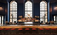 The bar at Ophelia, New York, USA