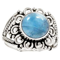 Aquamarine 925 Sterling Silver Ring Jewelry s.9 RR26181