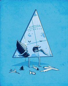 Triángulo de las Bermudas: descripción gráfica.