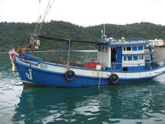 Fishing boats evolved from trawlers at the Ao Salat fishing village in Koh Kood Thailand