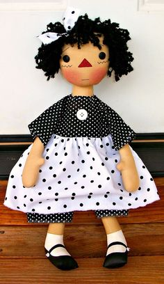 Primitive Raggedy Bobbie Doll Designed by Donna of Appleorchards