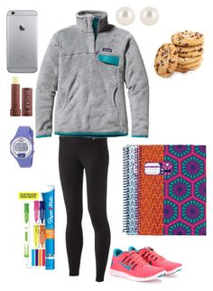 Studyin by mgm12 on Polyvore featuring Patagonia, NIKE, Timex, Henri Bendel, Fresh, Jonathan Adler and Paper Mate